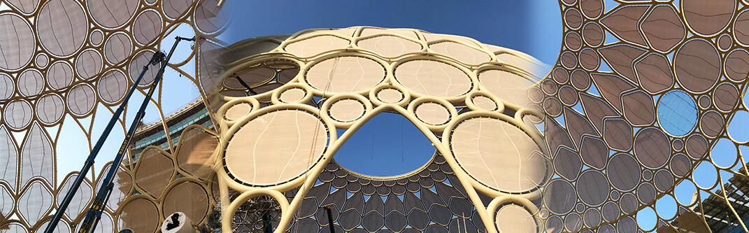 万博を彩る、世界最大「映像ドーム」の膜スクリーンを受注
