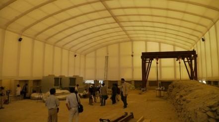 仮設屋根による建築申請不要の汚染土壌対応工事向け建屋とは? │ 概要と導入事例