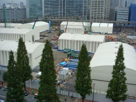 仮設レンタルテントを用いた経済的で効率的な汚染土壌対策建屋のメリット