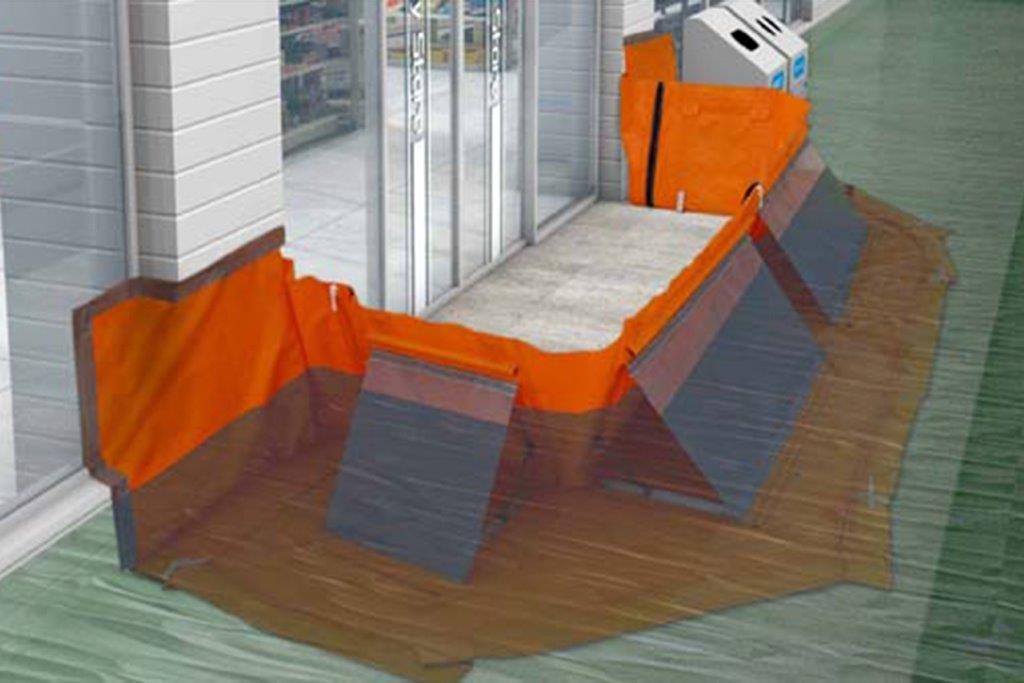 水害時に土嚢の役割を担う最新ツール!『水防シート』の高い止水効果と耐久性