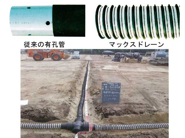 校庭や農地の水はけ改善!最適な暗渠排水管の選び方