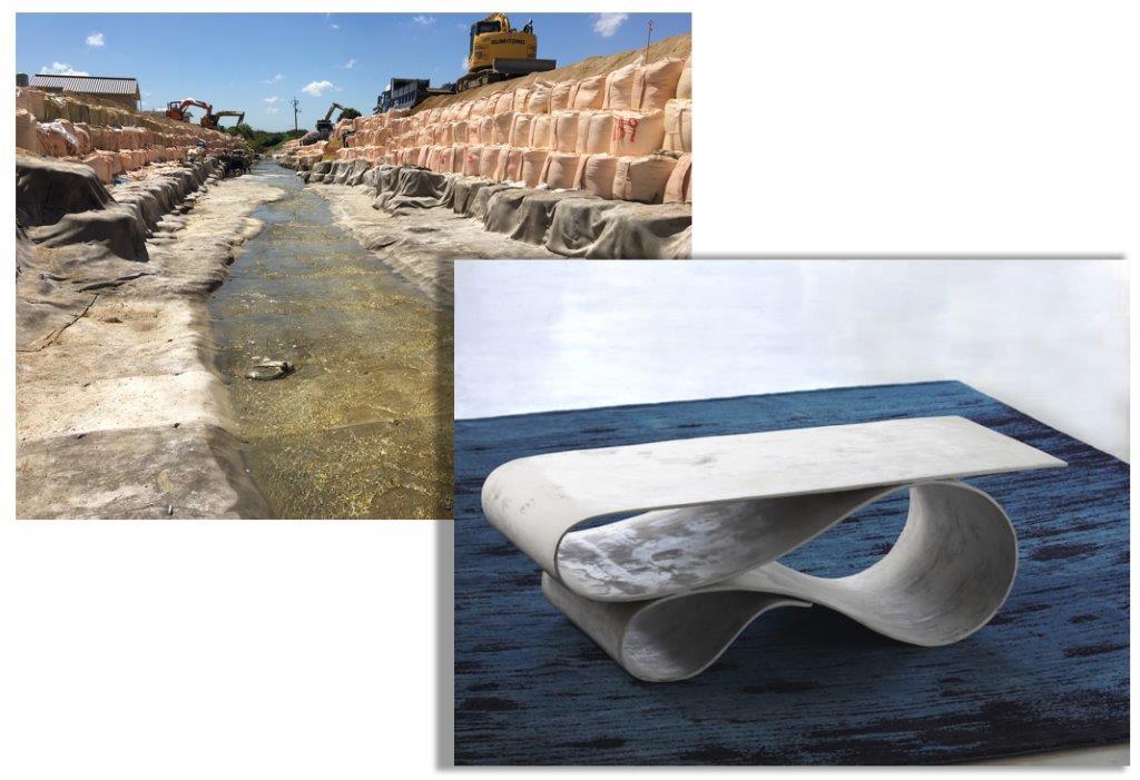 土木資材がデザイナー家具に?「コンクリートキャンバス」の無限の可能性