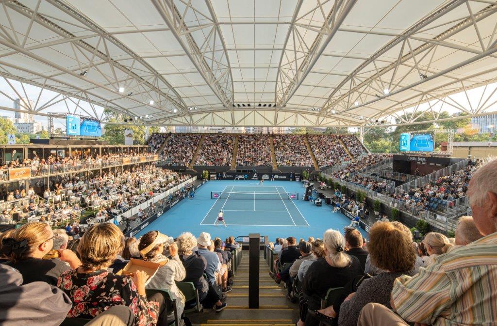 アデレード国際開催のセンター・コートに膜屋根採用、全天候型施設へ