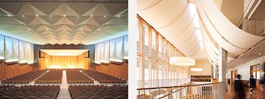 体育館やホールなどの大型膜構造物